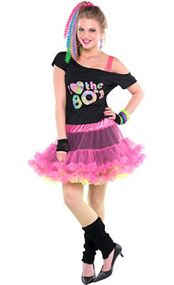 Adult 80s Valley Girl Costume Deluxe