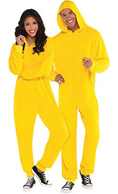 Adult Zipster Yellow One Piece Costume