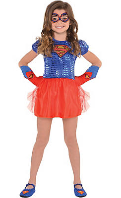 Girls Supergirl Costume