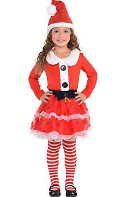 Girls Candy Cane Santa Costume