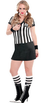 Adult Nicely Played Sexy Referee Costume Plus Size