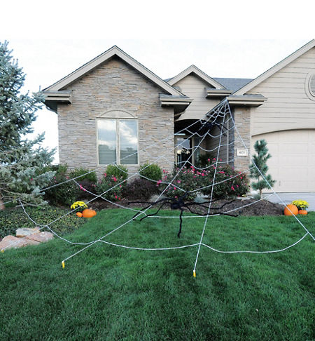 quick shop spider web yard decoration - Halloween Spider Web Decorations
