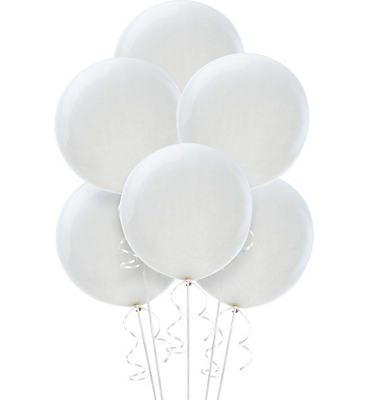 White Premium Latex Balloons 36in 6ct