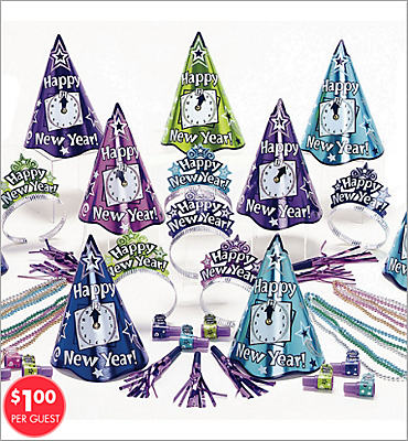 Multicolor Countdown New Years <span class=messagesale><br><b>Party Kit For 25</b></br></span>