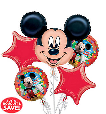 Happy Birthday Mickey Mouse Balloon Bouquet 5pc