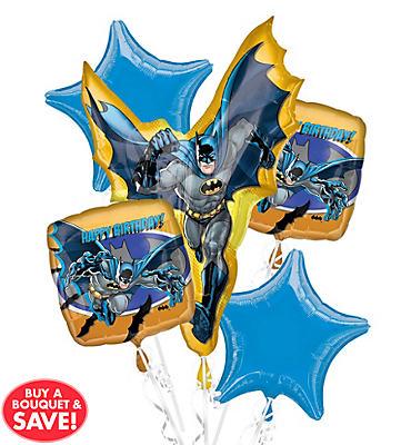 Happy Birthday Batman Balloon Bouquet 5pc
