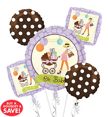 Modern Mommy Balloon Bouqet 5pc