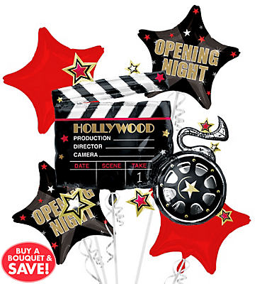 Foil Hollywood Balloon Bouquet 5pc