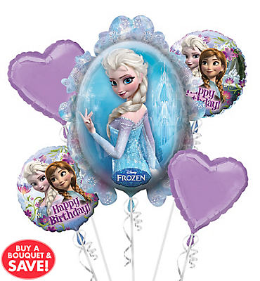 Frozen Balloon Bouquet 5pc