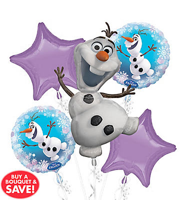 Frozen Olaf Balloon Bouquet 5pc