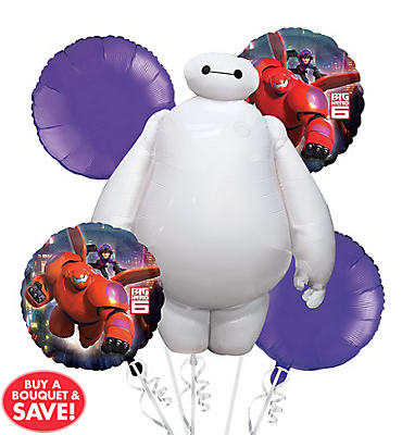 Big Hero 6 Balloon Bouquet 5pc