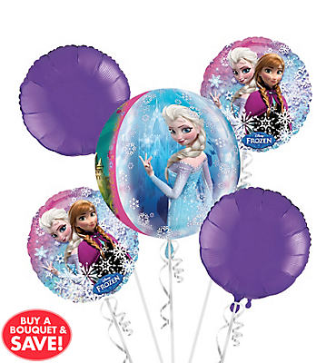 Frozen Balloon Bouquet 5pc - Orbz