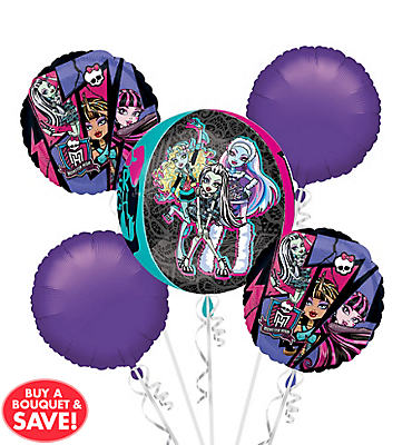 Monster High Balloon Bouquet 5pc - Orbz