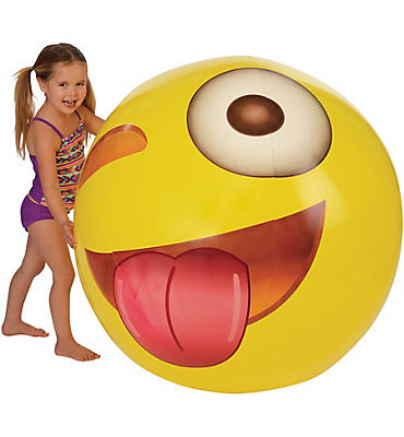 Giant Tongue Out Winking Smiley Beach Ball