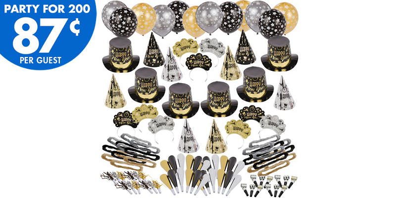 Kit For 200 - Black Tie Affair New Years Party Kit