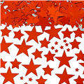 Metallic Red Star Confetti
