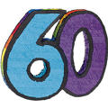 Number 60 Pinata 21in