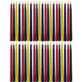 Multi-Colored Hanukkah Candles 4in 44ct
