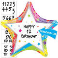 Happy Birthday Balloon - Personalized Rainbow Star