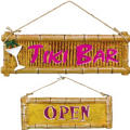 Tiki Bar Signs 2ct