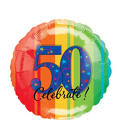 A Year to Celebrate 50th Birthday Foil Balloon 18in