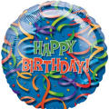 Foil Celebration Streamers Happy Birthday Balloon 36in