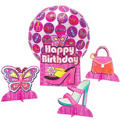 Glitzy Girl Balloon Centerpiece 4pc