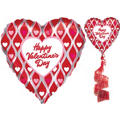 Happy Valentines Day Coil Tail Floating Balloon 50in