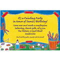 Artists' Party Custom Invitation