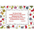 Cute Xmas Objects Custom Invitation