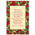 Handsome Mistletoe Custom Christmas Invitation