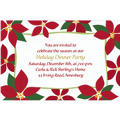 Mod Poinsettias Custom Christmas Invitation
