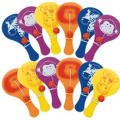 Jungle Animals Mini Paddle Balls 12ct