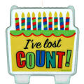 Lost Count Birthday Cake Candles