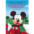 Mickey Mouse Clubhouse Custom Invitation