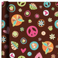 Hippie Chick Birthday Gift Wrap