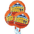 Denver Nuggets Balloons 18in 3ct