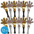 Black, Gold & Silver Hand Clappers 12ct
