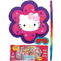 Pull String Flower Hello Kitty Pinata Kit