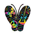 Foil Neon Butterfly Balloon 22in x 33in
