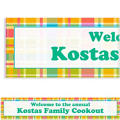 Summer Plaid Custom Banner 6ft
