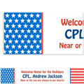 Red, White & Blue Stars Welcome Home Custom Banner