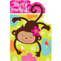 Monkey Love Invitations 8ct