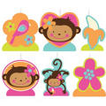 Monkey Love Birthday Candles 6ct