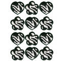 Zebra Print Icing Decorations 12pc