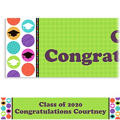 Colorful Commencement Custom Graduation Banner 6ft