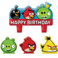 Angry Birds Birthday Candles 4ct