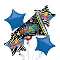 Foil Megaphone Graduation Balloon Bouquet 5pc