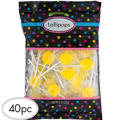 Yellow Lollipops 48pc
