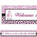 Pink Safari Custom Banner 6ft